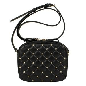 Valentino Quilted Leather Rockstud Crossbody Bag